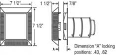 Впускная/выпускная вентиляционная отдушина с изменяемой длиной воздуховода
